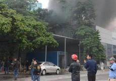 Cháy lớn gần trụ sở Liên đoàn bóng đá Việt Nam