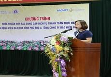 BVĐK tỉnh Phú Thọ : Hợp tác Công ty Bảo Việt triển khai dịch vụ bảo lãnh viện phí