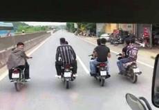 Thanh Hóa: Truy tìm nhóm thanh niên đầu trần dàn hàng ngang trên đường quốc lộ