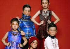 Mẫu nhí đáng yêu với trang phục Á Đông
