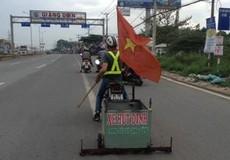 Đội tình nguyện hút đinh trên tuyến đường 'đao phủ' ở Đồng Nai