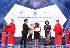 Coca-Cola được vinh danh Top 10 tại lễ công bố doanh nghiệp bền vững tại Việt Nam 2017