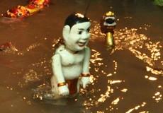 Ấn tượng chất phù sa trong bể nước ở sân khấu Phan Thanh Liêm