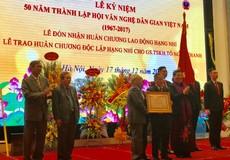 Hội Văn nghệ dân gian Việt Nam nhận Huân chương hạng Nhì