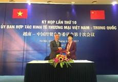 8 tháng đầu năm 2017 Việt Nam nhập siêu 17,7 tỷ USD từ Trung Quốc