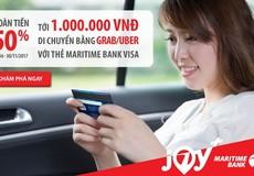 Maritime Bank phối hợp với Grab và Uber mang đến ưu đãi 'khủng'
