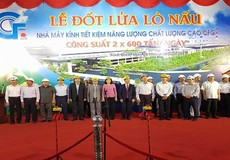 Ninh Bình : Tập đoàn Indevco tổ chức lễ đốt lửa lò nấu nhà máy kính tiết kiệm năng lượng chất lượng cao CFG