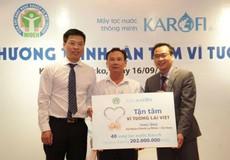 Trao tặng 75 triệu lít nước tinh khiết cho làng ung thư