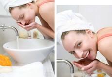 Rửa mặt đúng cách để da không bị nhăn