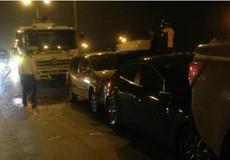 Tai nạn giao thông liên hoàn trên cầu Thanh Trì