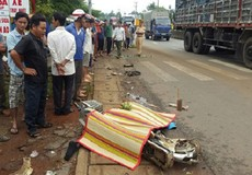 Nam sinh bị xe tải đâm tử vong trên đường đi học