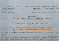 """Bình Định: Phó Chánh Thanh tra Sở Tài chính bị """"tố"""" ra quyết định trái luật"""