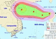 Bão giật cấp 13 - 15 tiến vào vùng biển Việt Nam