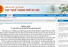 Cảnh báo hiện tượng giả cán bộ thuế Hà Nội lừa tiền doanh nghiệp