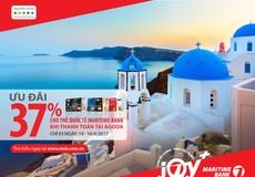 Ưu đãi nhân đôi lên tới 37% cho chủ thẻ Quốc tế Maritime Bank   khi đặt phòng tại Agoda