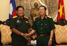 Trung tướng Đỗ Bá Tỵ tiếp Cục trưởng Tác chiến Lào