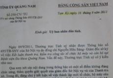 """Phó chánh văn phòng Tỉnh ủy Quảng Nam """"chỉ đạo""""sửa kết luận thanh tra có đúng luật?"""