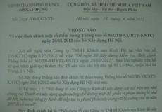 Sở xây dựng Hà Nội đính chính một số điểm trong thông báo 562