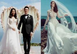 Váy cưới của sao nữ châu Á được may bởi những thương hiệu nào?