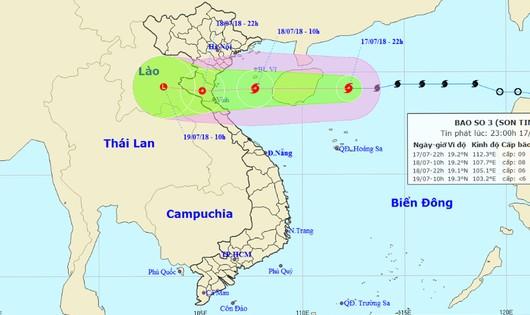 Bão tăng cấp, chiều tối mai khả năng đổ bộ ven biển Hải Phòng đến Hà Tĩnh