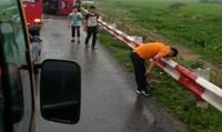 Xác định nguyên nhân vụ lật xe khách trên cao tốc Pháp Vân - Cầu Giẽ