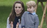 Ngắm hoàng tử George đẹp trai  mặc ton sur ton với mẹ