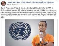 UNFPA đã tạm thời gỡ bỏ những hình ảnh có Phạm Anh Khoa