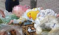 Bé trai 4 tháng tuổi bị vứt trong xe rác
