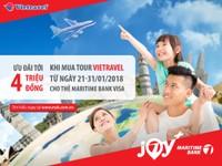 Ưu đãi đến 4 triệu cho các chuyến du lịch mùa Xuân cùng thẻ tín dụng du lịch Maritime Bank