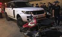 Gây tai nạn liên hoàn sau khi trộm xe Range Rover