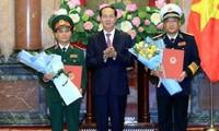 Chủ tịch nước thăng quân hàm cho hai sĩ quan cấp tướng