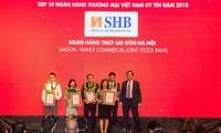 SHB khẳng định vị thế vững chắc trong top 10 ngân hàng Việt Nam uy tín