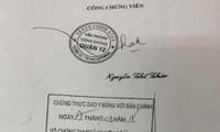 TP HCM: Cảnh báo về văn bản công chứng sử dụng con dấu giả