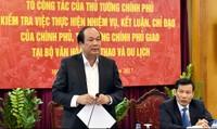 Thủ tướng yêu cầu Bộ VHTT&DL giải trình 5 vấn đề