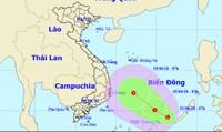 Xuất hiện vùng áp thấp mạnh trên biển Đông