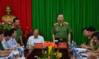 Bộ trưởng Tô Lâm chỉ đạo công tác đảm bảo an ninh, trật tự tại Bình Thuận