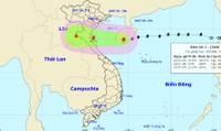 Bão giật cấp 10 đang tiến nhanh vào Thái Bình - Hà Tĩnh