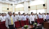 Tổ chức Lễ chào cờ và hát Quốc ca hằng tháng tại Bộ TT&TT