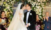 Á hậu Thanh Tú chủ động thể hiện tình yêu với chồng đại gia trước quan khách