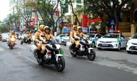 Sáng 16/12, cảnh sát cả nước ra quân tấn công tội phạm, giữ trật tự giao thông