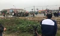 Xe tải va chạm với tàu hỏa ở Hưng Yên, một người thiệt mạng