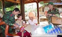 Quân dân đều khỏe nhờ thực hiện tốt phòng chống dịch bệnh sau lũ
