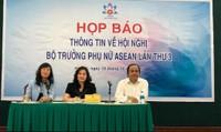 Hội nghị Bộ trưởng Phụ nữ ASEAN sắp diễn ra tại Hà Nội