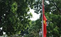 Sớm rủ cờ tưởng nhớ cố Chủ tịch nước Trần Đại Quang