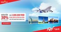 Hoàn tiền đến 2 triệu đồng cho chủ thẻ tín dụng du lịch Maritime Bank Visa  khi đặt vé máy bay tại Gotadi