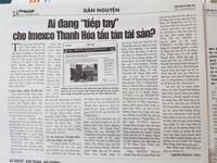 Tiếp vụ Inmexco Thanh Hoá tẩu tán tài sản: Có hay không sự tiếp tay của Toà án?