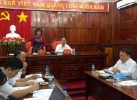 """Thứ trưởng Đặng Hoàng Oanh làm việc tại Bình Phước: """"Tăng cường các giải pháp tháo gỡ khó khăn cho doanh nghiệp"""""""