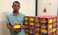 Nghệ An: Bắt giữ đối tượng vận chuyển hàng tạ pháo do nước ngoài sản xuất