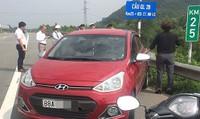 Phạt 7 triệu đồng nữ tài xế lái ô tô ngược chiều cao tốc Nội Bài - Lào Cai