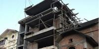 Đình chỉ công trình biệt thự nghêng ngang xây dựng sai phép giữa thủ đô